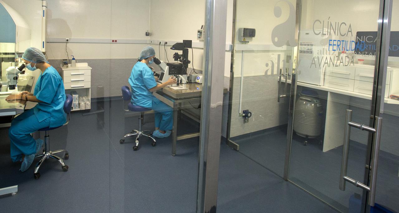 Embriologos, sala de vitrificación